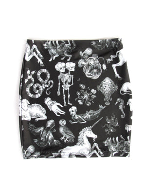 Freak of Nature Mini Skirt in Black