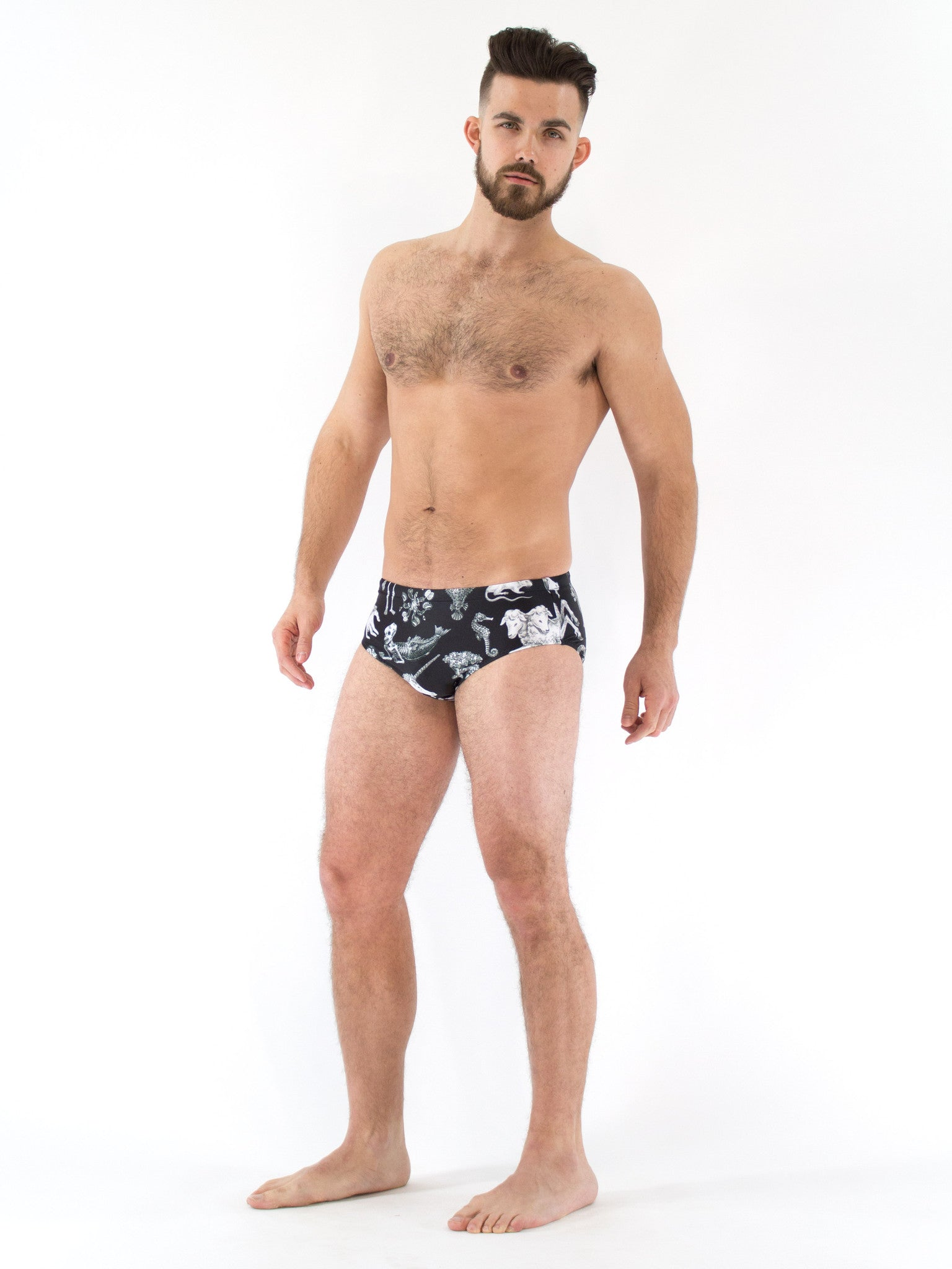 Freak of Nature Swim Brief Black