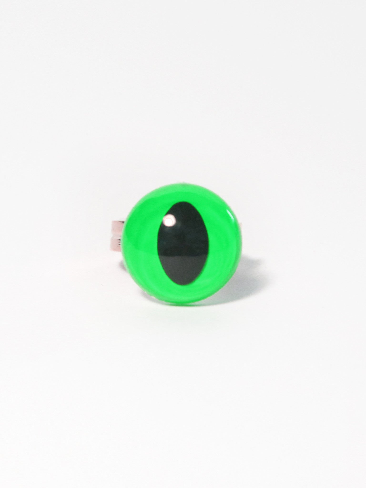Neon Green Eye Ring