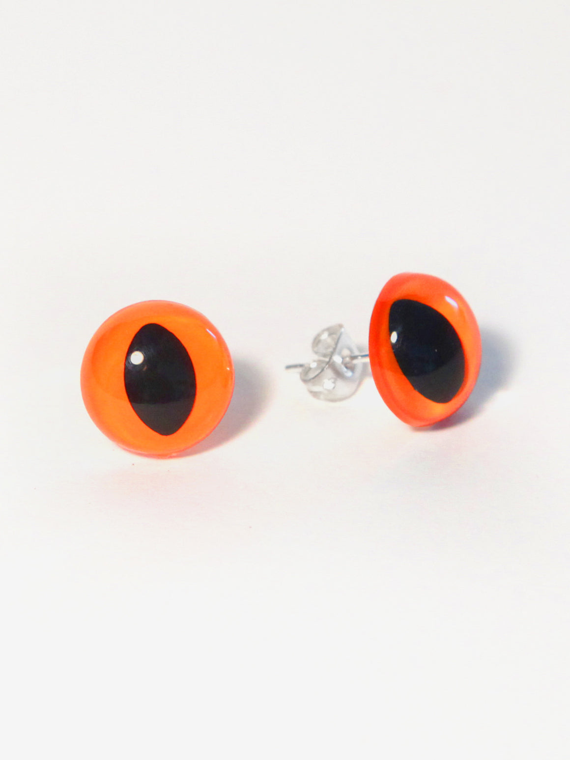Neon Orange Eye Earrings