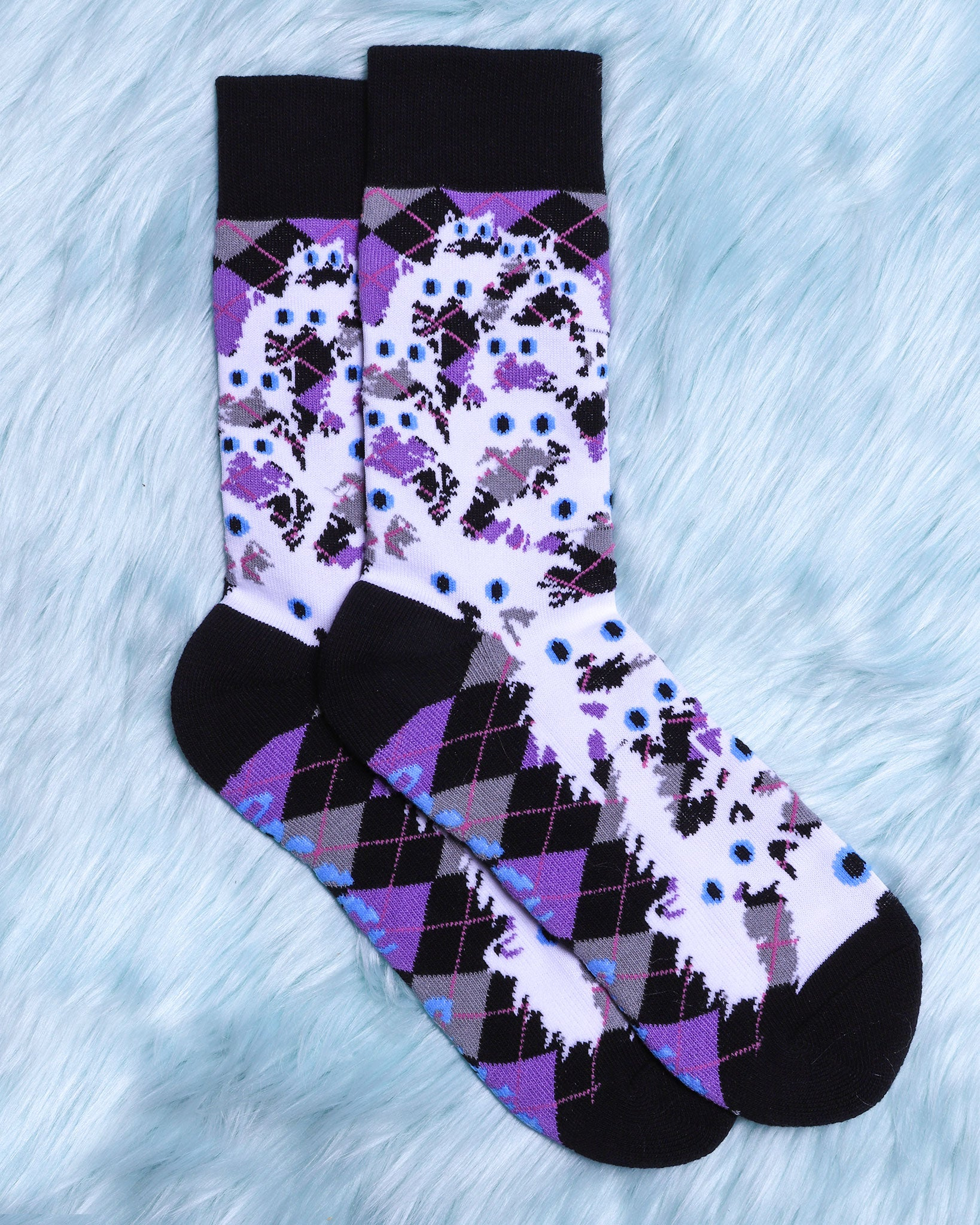 Argyle Crazy Kitty Socks