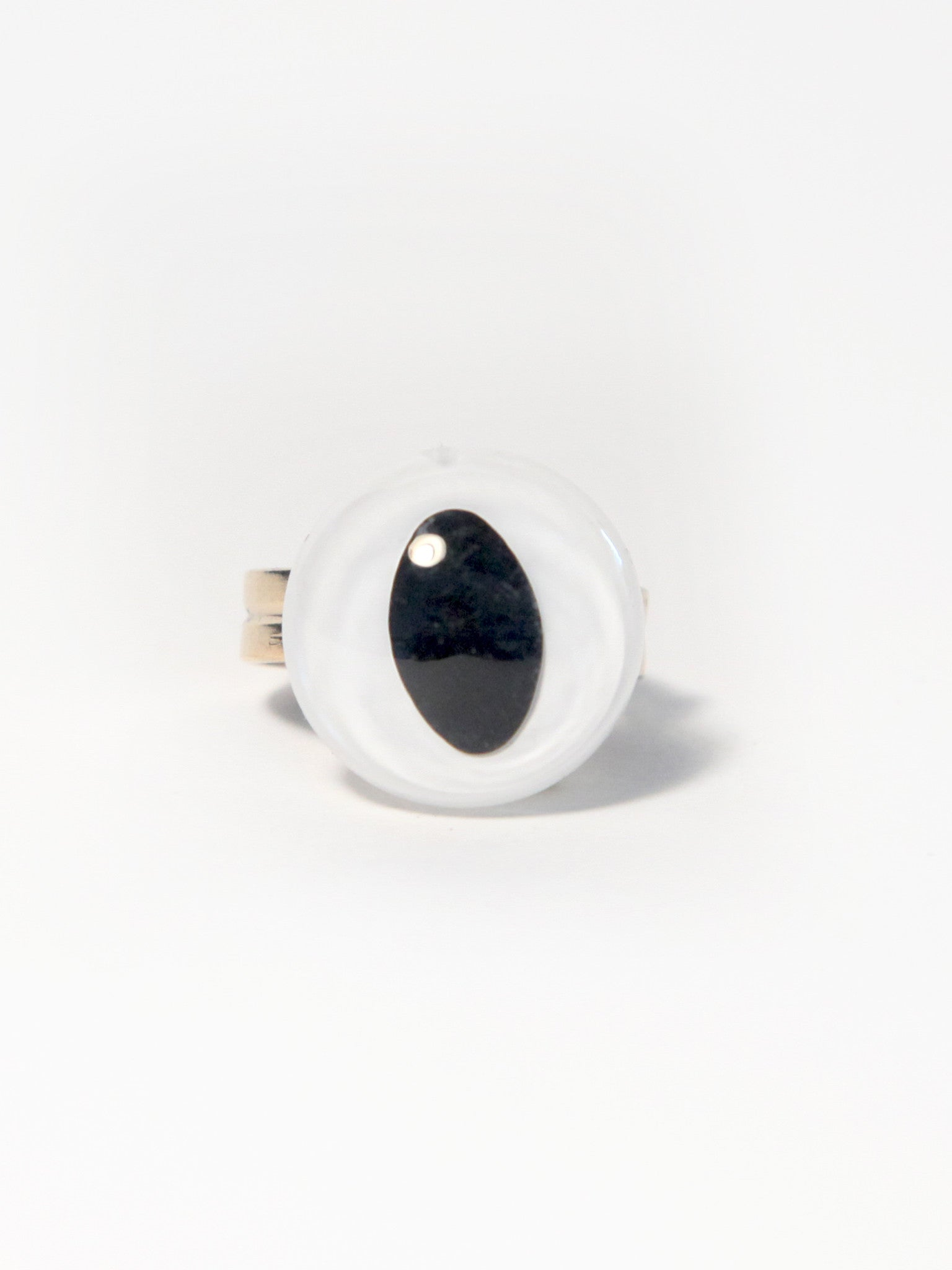 White Eye Ring