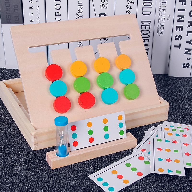 4 color matching puzzle  educational wooden toys -right brain develop