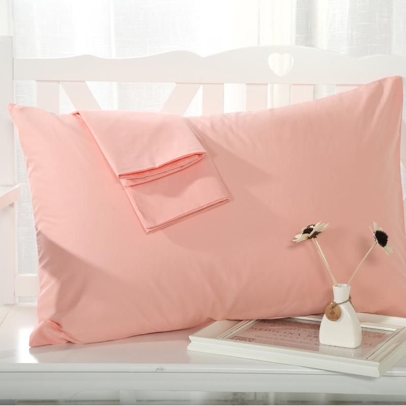 Cool Sleep in Summer-Simple plain cotton pillowcase
