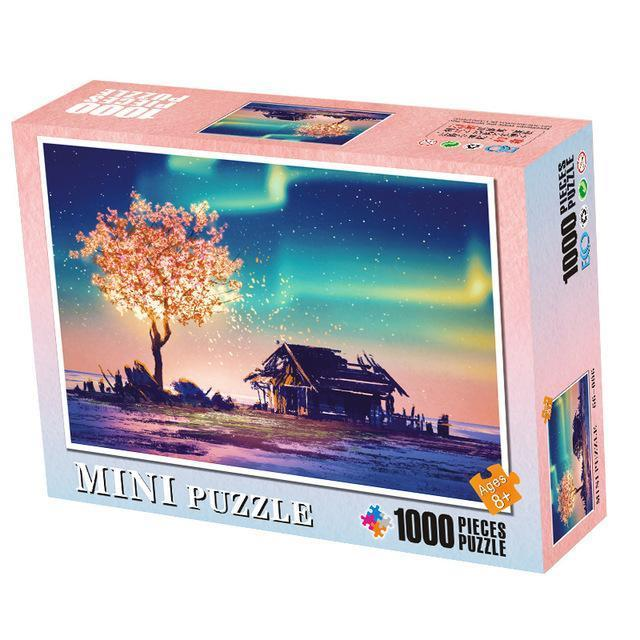 Colorful 1000-Piece Jigsaw Puzzles for the Whole Family