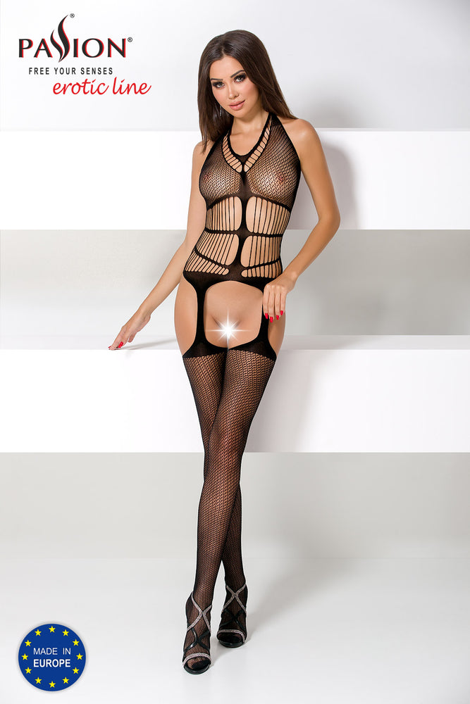 Load image into Gallery viewer, Bodystocking BS049 Black
