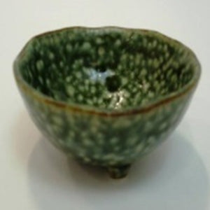3 legs small bowl green