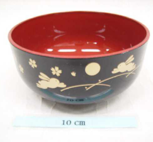 A middle bowl tukiusagi black