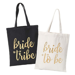 Bride to Be  and Bride Tribe  tote bags