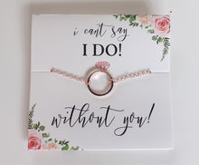 Load image into Gallery viewer, Bridesmaids proposal card with Necklace