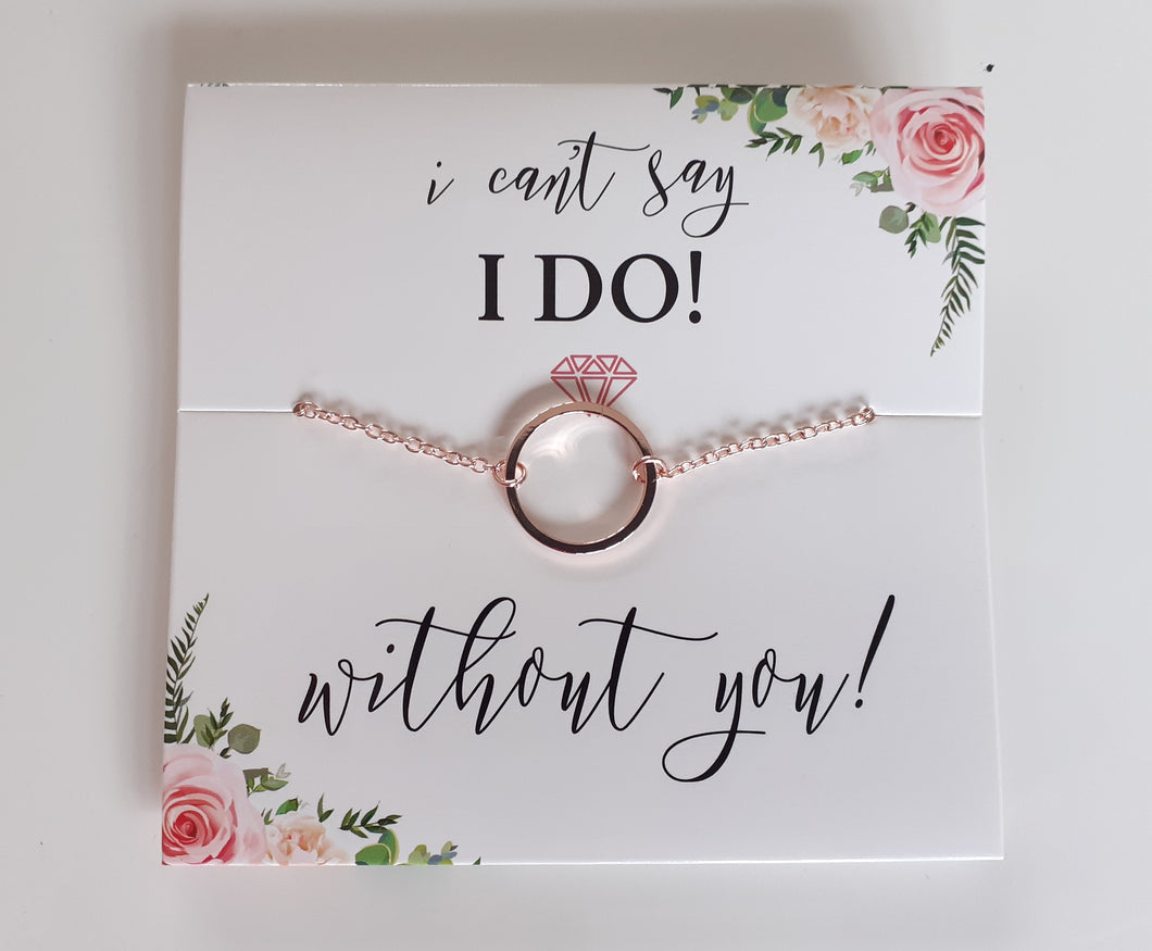 Bridesmaids proposal card with Necklace