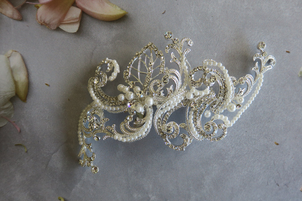 Vintage inspired hair Clip , intricately detailed hair adornment