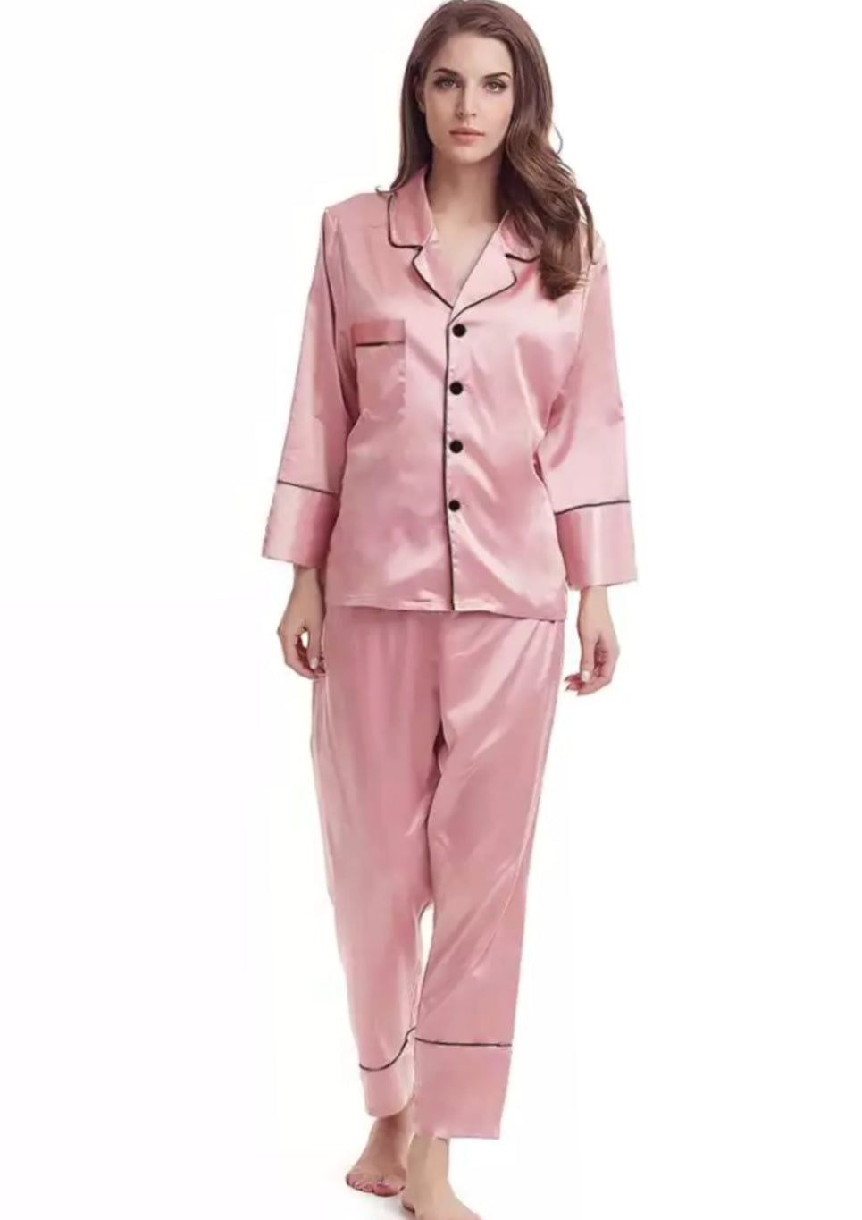 Long Pyjama set-Dusty pink