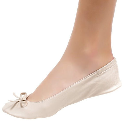 Cinderollies- Foldable flat bridal shoes- Nude