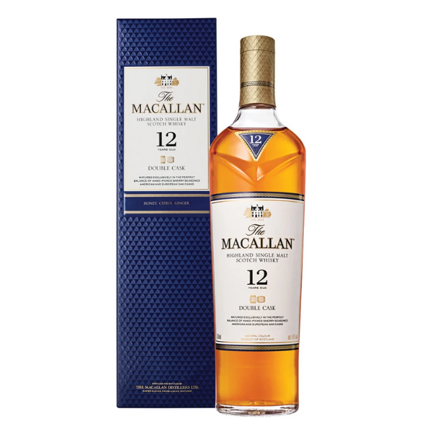 The Macallan 12-year-old Double Cask Single Malt Whisky (U.K.) 750ml