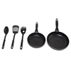 Oster 5 Piece Frying Pan: 20cm & 24cm Pan + 3 Kitchen Utensils
