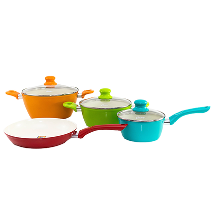 Oster 7 Piece Multicolor Cookware Set