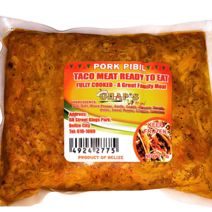 Chap's To Go: Taco Meat Ready To Eat - Pork Pibil 1lb