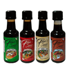 Fibber's Sauce - 4-Pack Assorted 50ml - Garlic, Spicy Onion, Hot & Spicy, Original