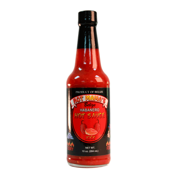 Hot Mama's Belize Habanero Pepper Sauce Fiery XXX 10oz