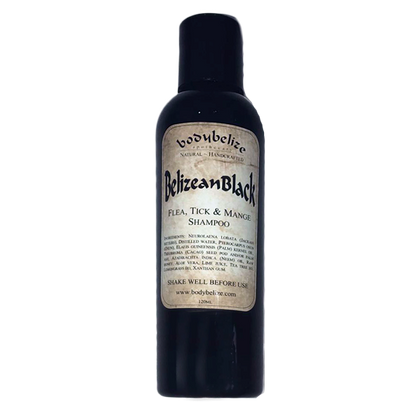 Belizean Black: Flea, Tick & Mange Shampoo 120ml (4633864306793)