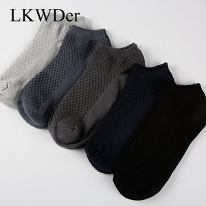 5 Pairs/lot Men's Socks Business Bamboo Fiber Short Ankle Socks Spring Autumn Breathable Calcetine Sock Male Sock Meias Male Sox