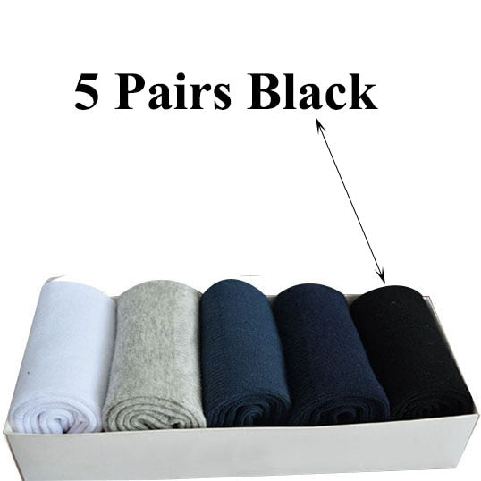 Urgot 5 Pairs Men's Socks Large Plus Big Size 48,49,50 All-match Casual Business Anti-Odor Men Socks Sox Meias Calcetines Hombre