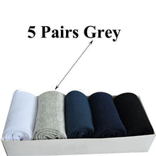 Load image into Gallery viewer, Urgot 5 Pairs Men's Socks Large Plus Big Size 48,49,50 All-match Casual Business Anti-Odor Men Socks Sox Meias Calcetines Hombre