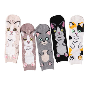 New 2020 Harajuku Cotton Women Socks Cat Face Pattern Socks Personality Female Calcetines Women Socks Autumn Winter Sock Meias