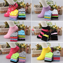 Load image into Gallery viewer, Urgot 20pieces=10 Pairs/lot Candy Colors Women Ankle Socks Funny Cute Solid color Boat Socks Womens Lady Girl Art Sock Short Sox