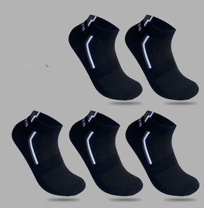 5 Pairs/lot Men Socks Stretchy Shaping Teenagers Short Sock Suit for All Season Non-slip Durable Male Socks Hosiery