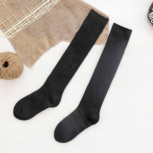 Urgot 5 Pairs Womens High Socks Cotton Thickening Terry Socks Autumn Winter Plus Velvet Warm Socks Women Long Tube Knee Pile Sox