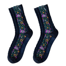 Load image into Gallery viewer, Urgot 3 Pairs 2020 New Fashion Women's Socks Cotton Euramerican National Wind Flowers Autumn and Winter Lady Socks Warm and Cute