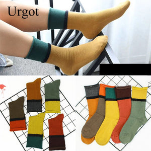 Urgot 5 Pairs Women's Heap Heap Socks Female Ins Spring Autumn Korean Version Trend College Style Japanese Ladies Girls Meias