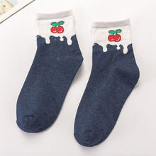 Load image into Gallery viewer, Urgot 5 Pairs Women's Socks Funny Cute Cartoon Fruit Strawberries Japanese Cute Sweet Cotton Socks Women Ladies Meias Calcetines
