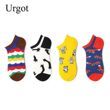 Load image into Gallery viewer, Urgot 6 Pairs Women's Ankle Socks EUR 37-42 Street Skateboard Tide Brand Happy Socks Girls Sox Ins Style Meias Calcetines Mujer