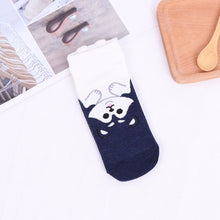 Load image into Gallery viewer, 5pairs Cute Funny Cotton Socks Women Low Cut Dog Kawaii 3D Cartoon Animals Happy Socks Horsiery Winter Warm Christmas Socks Gift