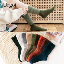 Load image into Gallery viewer, Urgot 5 Pairs Women's Autumn Winter New Fashion Mink Velvet Socks Female Cotton Long Tube Sock Personality Retro Pile Socks Sox