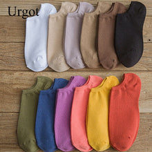 Load image into Gallery viewer, Urgot 3 Pairs Women's Ankle Socks Girls Gifts Tide Spring Summer Boat Socks Cotton Ladies Female Sock Meias Calcetines Mujer Sox