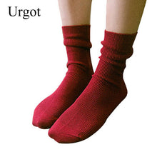 Load image into Gallery viewer, Urgot 3 Pairs Womens Socks Spring and Autumn Long Socks Women Fashion Fresh Cotton Solid  Candy Color Socks Calcetines Mujer Sox