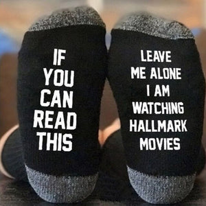 Urgot 3 Pairs/lot  Christmas Socks IF YOU CAN READ THIS I'M WATCHING CHRISTMAS MOVIES Socks Women Men Autumn Winter Short Socks