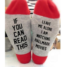Load image into Gallery viewer, Urgot 3 Pairs/lot  Christmas Socks IF YOU CAN READ THIS I'M WATCHING CHRISTMAS MOVIES Socks Women Men Autumn Winter Short Socks