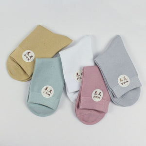Urgot 5 Pairs Women's Health Socks Spring Summer Short Combed Cotton Breathable Sweat-Absorbent Deodorant Comfort Female Socks