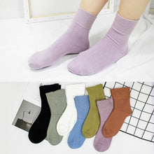 Load image into Gallery viewer, Urgot 5 Pairs Women's Health Socks Spring Summer Short Combed Cotton Breathable Sweat-Absorbent Deodorant Comfort Female Socks