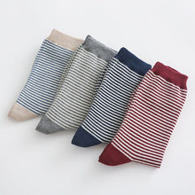 Load image into Gallery viewer, 4 Pairs 2020 Autumn Winter Cute Striped Socks Women Fashion Harajuku Candy Color Socks Meias Cotton Thick Warm Long Funny Socks