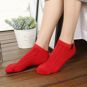 Urgot 5 Pairs Women's Socks Colorful Funny Cute Ankle Socks High Quality Spring Autumn Cotton Solid Color Female Sock Hosiery
