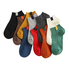 Load image into Gallery viewer, Urgot 5 Pairs Women's Socks Colorful Funny Cute Ankle Socks High Quality Spring Autumn Cotton Solid Color Female Sock Hosiery