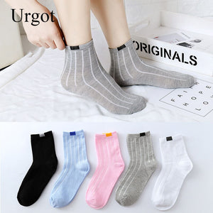 Urgot 10 Pairs Candy Solid Color Women Casual Socks Wholesale Spring Autumn Sports Models Korean College Style Socks Keep Warm