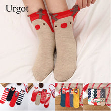 Load image into Gallery viewer, Urgot 4 Pairs/lot Womens Socks Casual Winter Christmas Socks Deer Cotton Cartoon Keep Warm lady Socks Christmas Gifts Calcetines