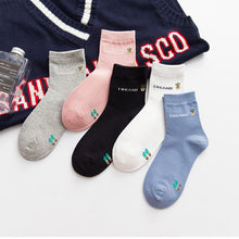 Load image into Gallery viewer, 5pairs Women Short Socks Cute Japanese Thin Cactus Pattern Funny Girls Socks Meias Sox Hosiery Spring Autumn Cotton Female Socks